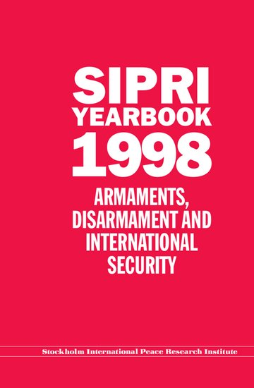 SIPRI yearbook 1998 cover