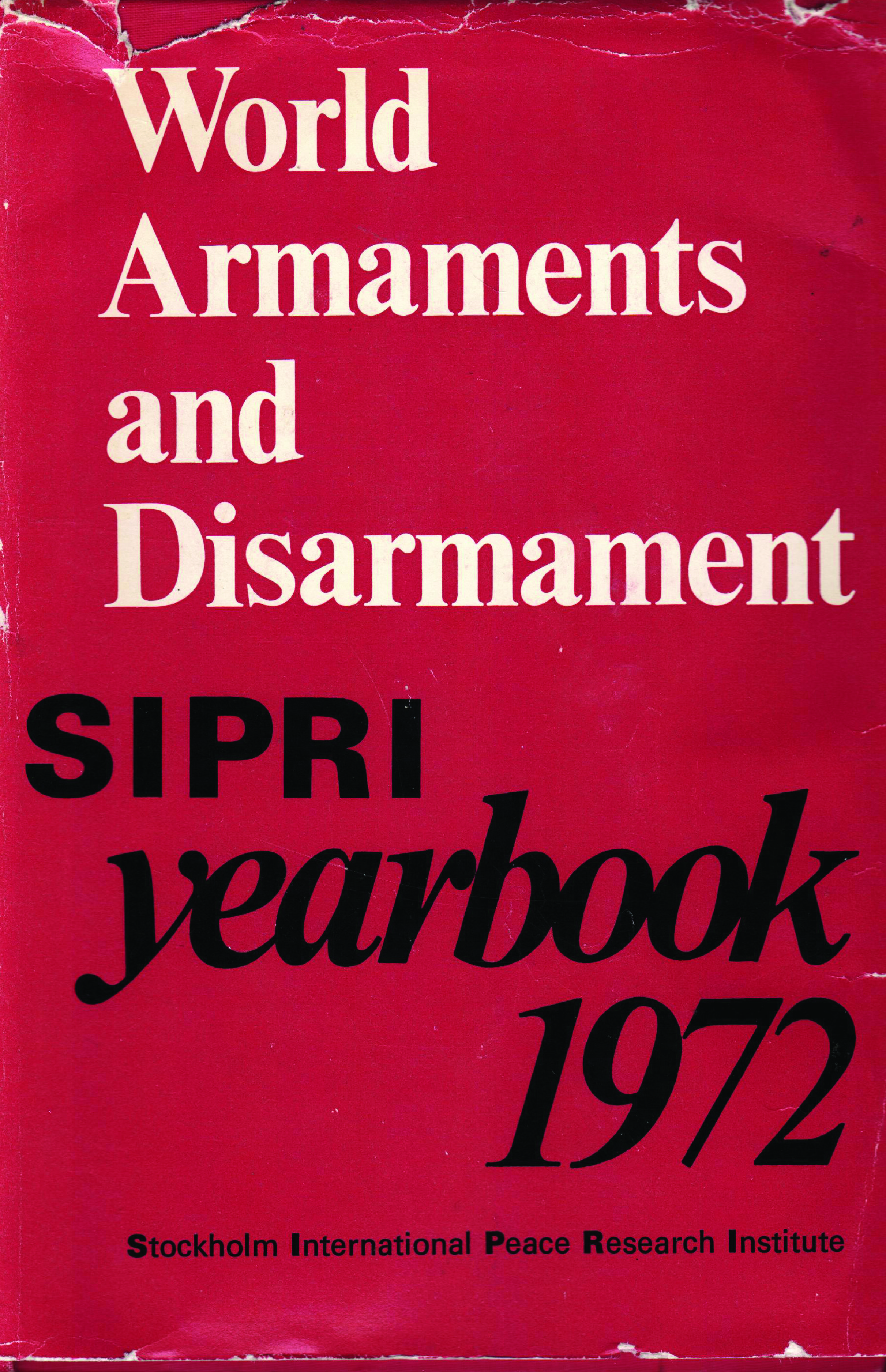 SIPRI yearbook 1972 cover