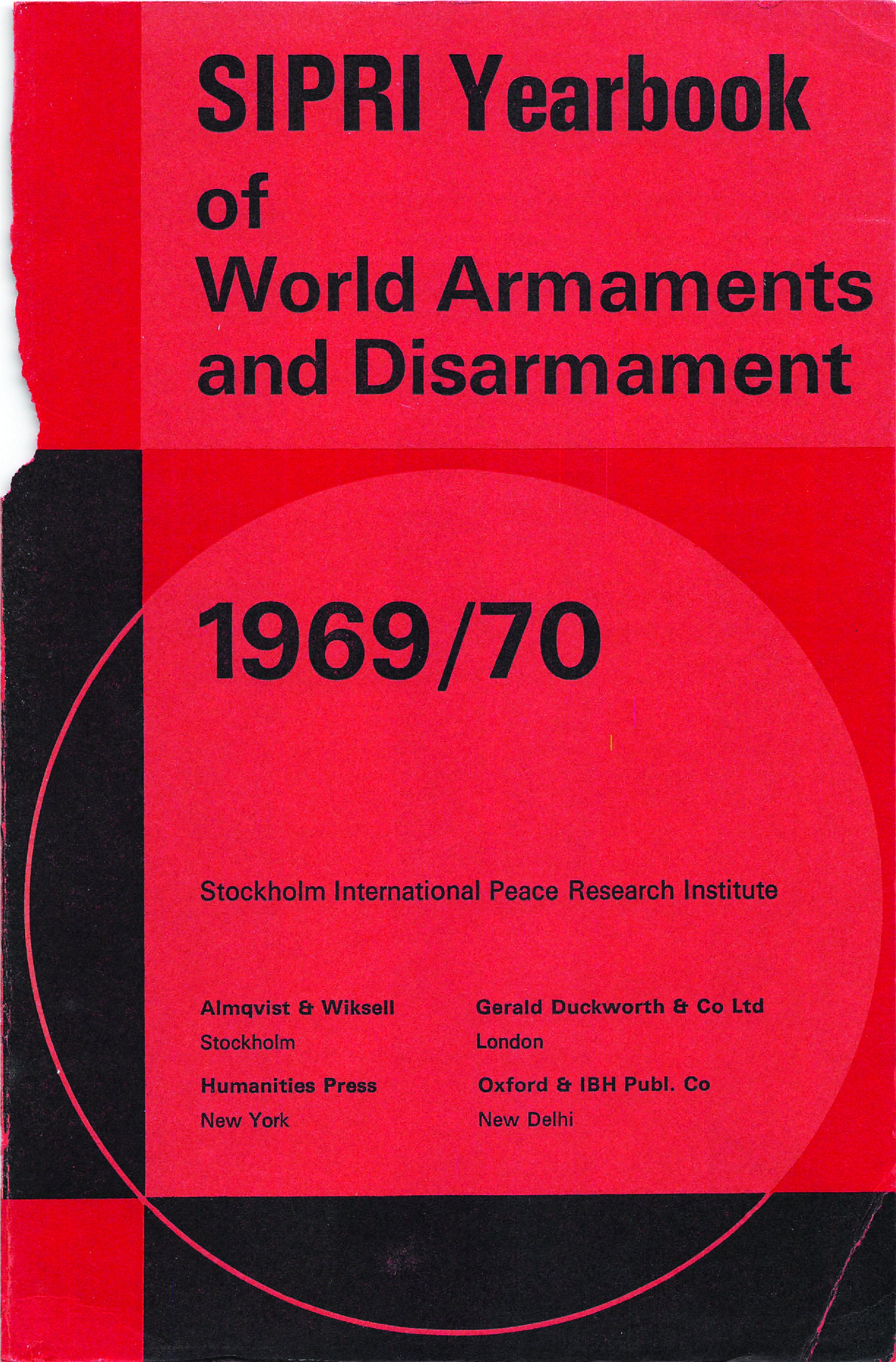 SIPRI yearbook 1969-70 cover
