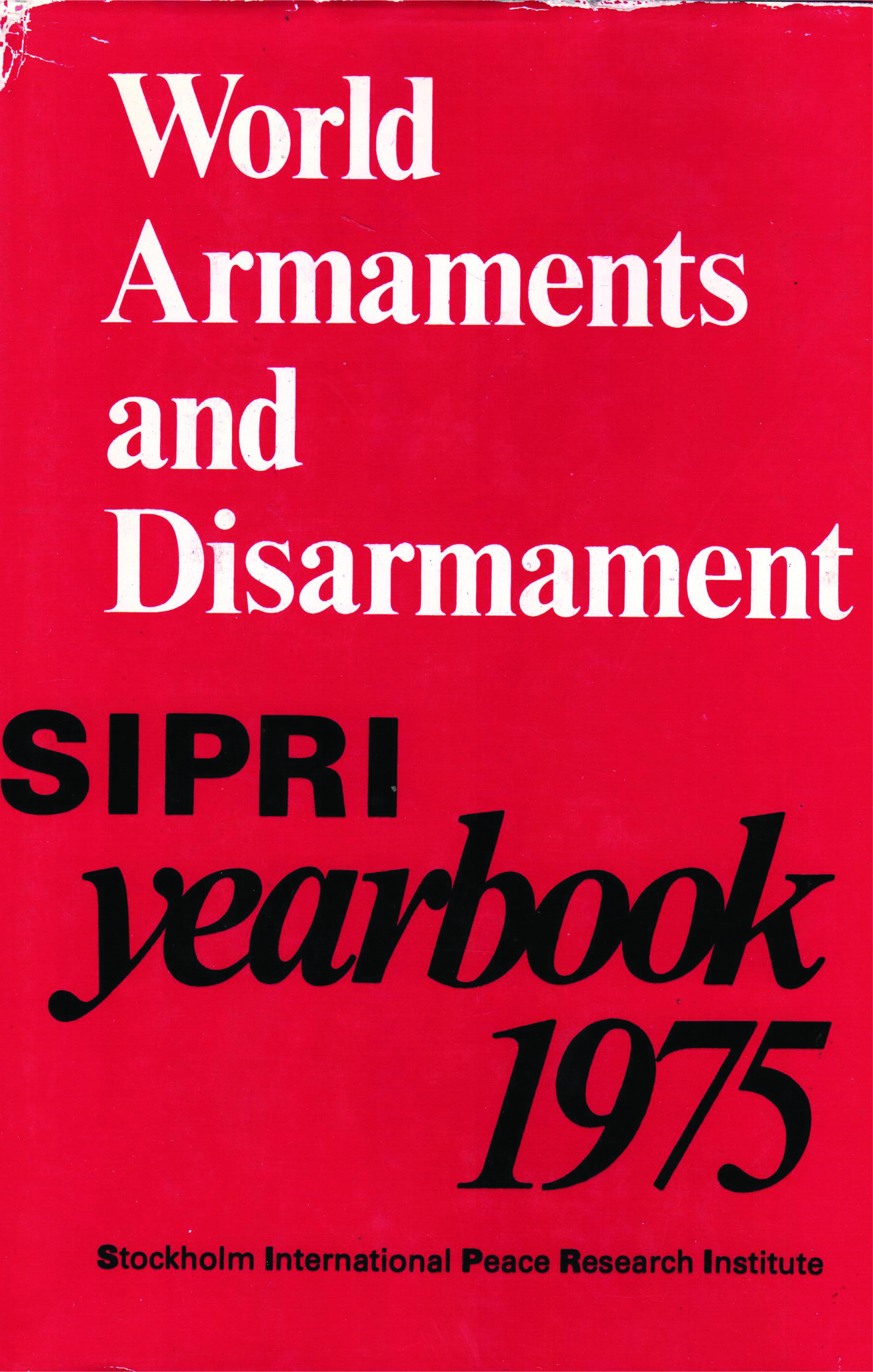 SIPRI yearbook 1975 cover