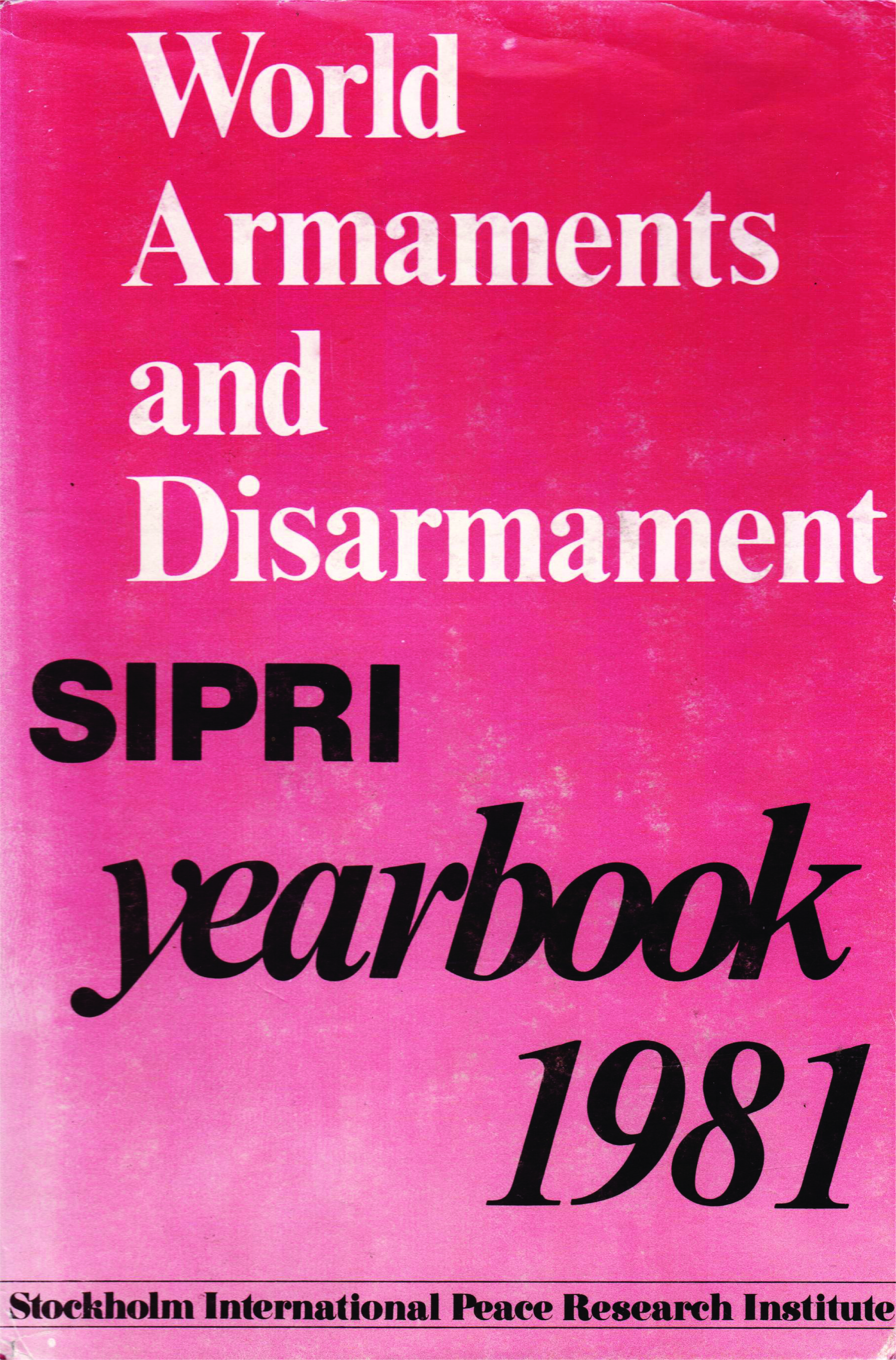 SIPRI yearbook 1981 cover