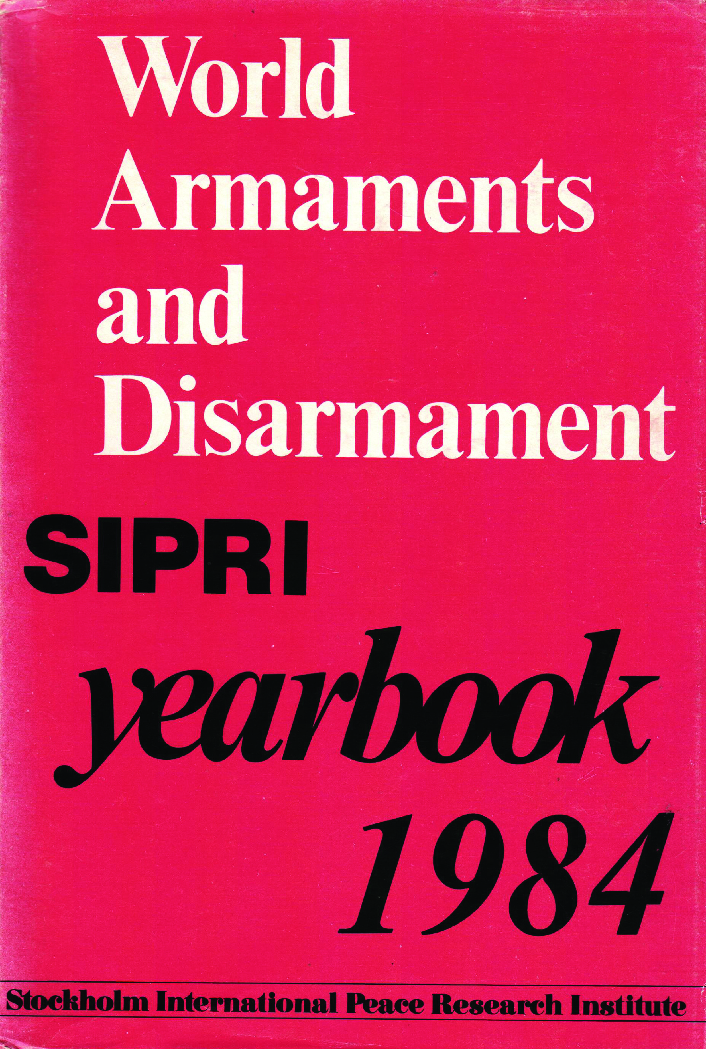 SIPRI yearbook 1984 cover