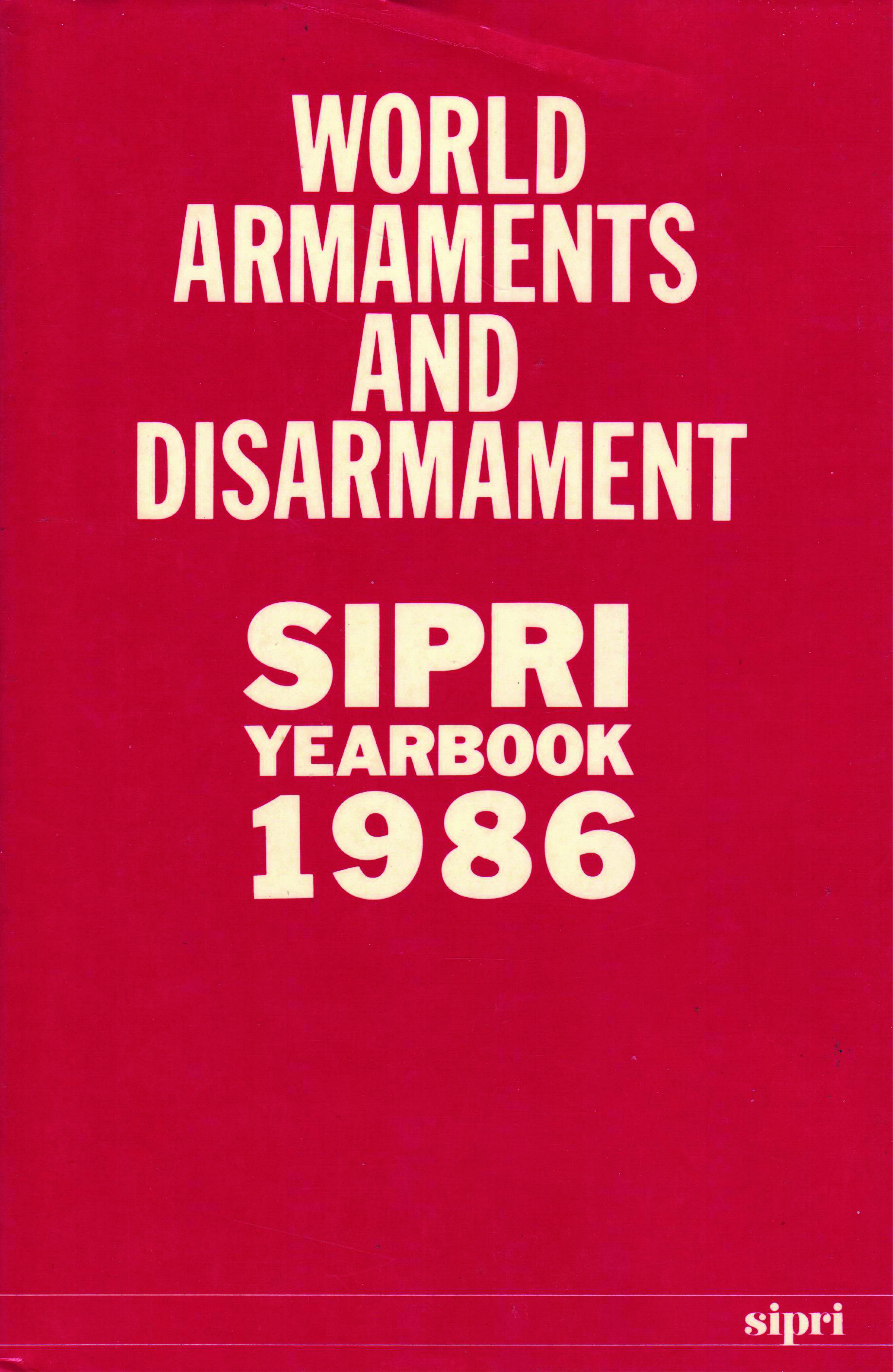 SIPRI yearbook 1986 cover