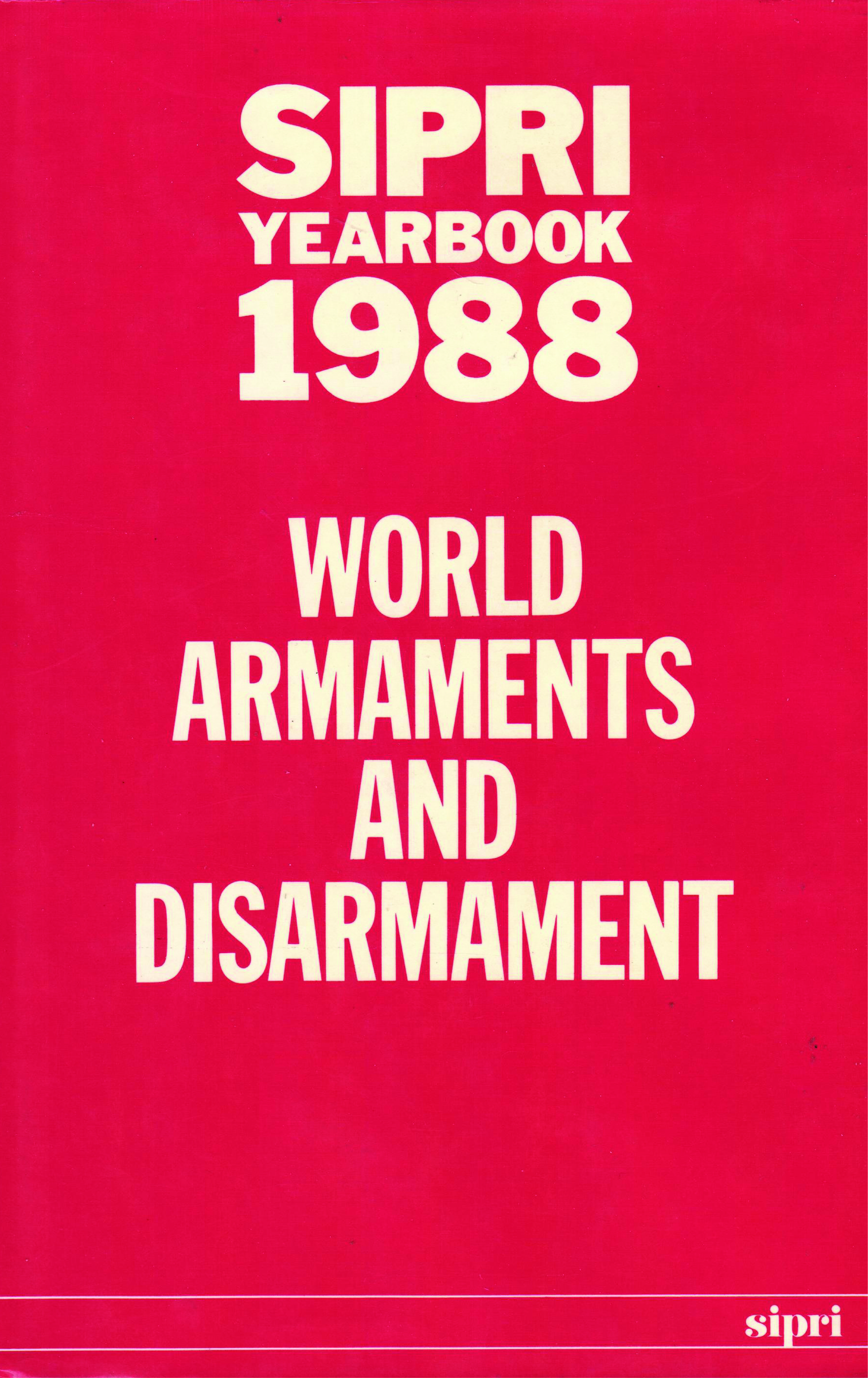 SIPRI yearbook 1988 cover