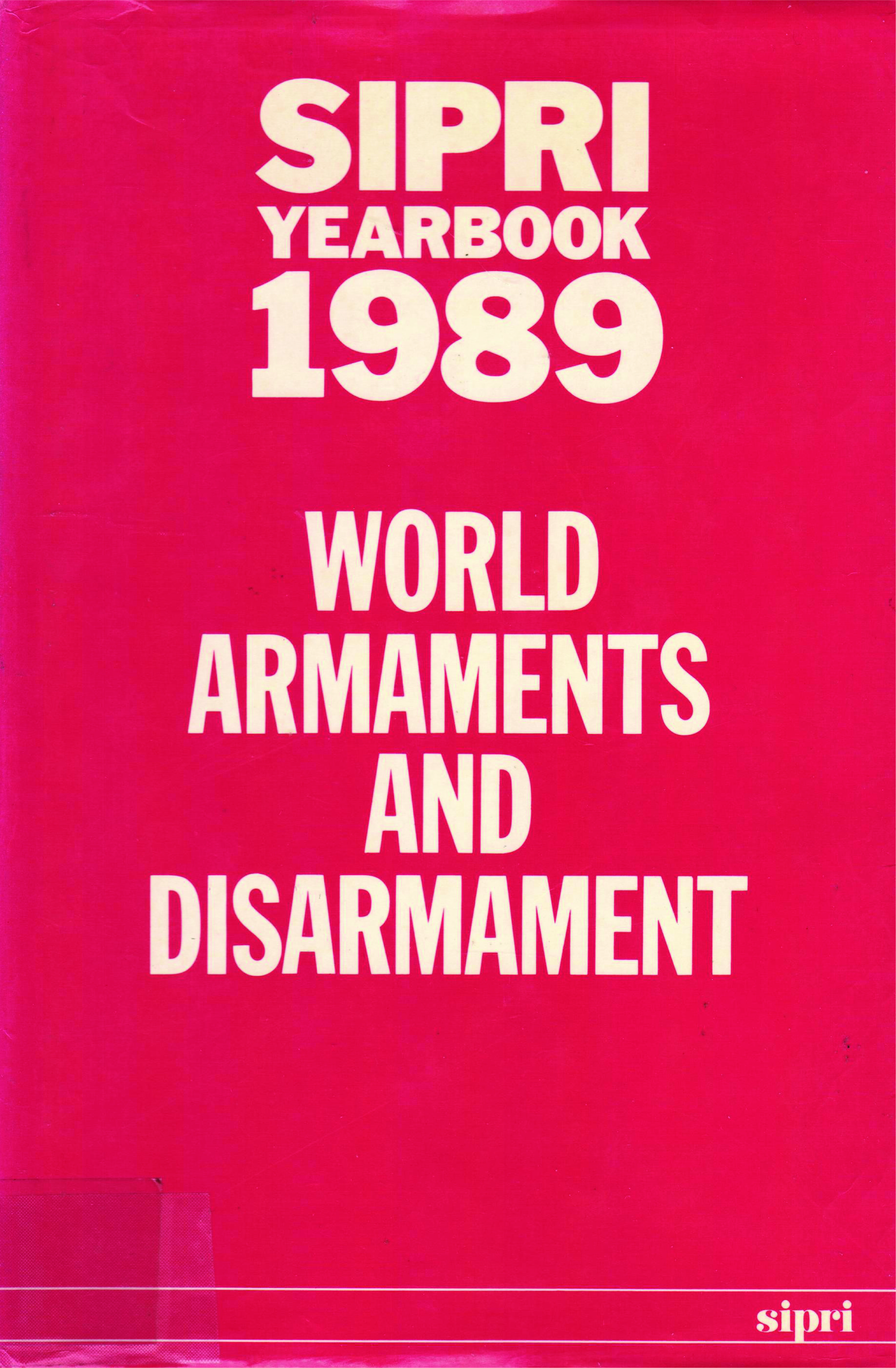SIPRI yearbook 1989 cover