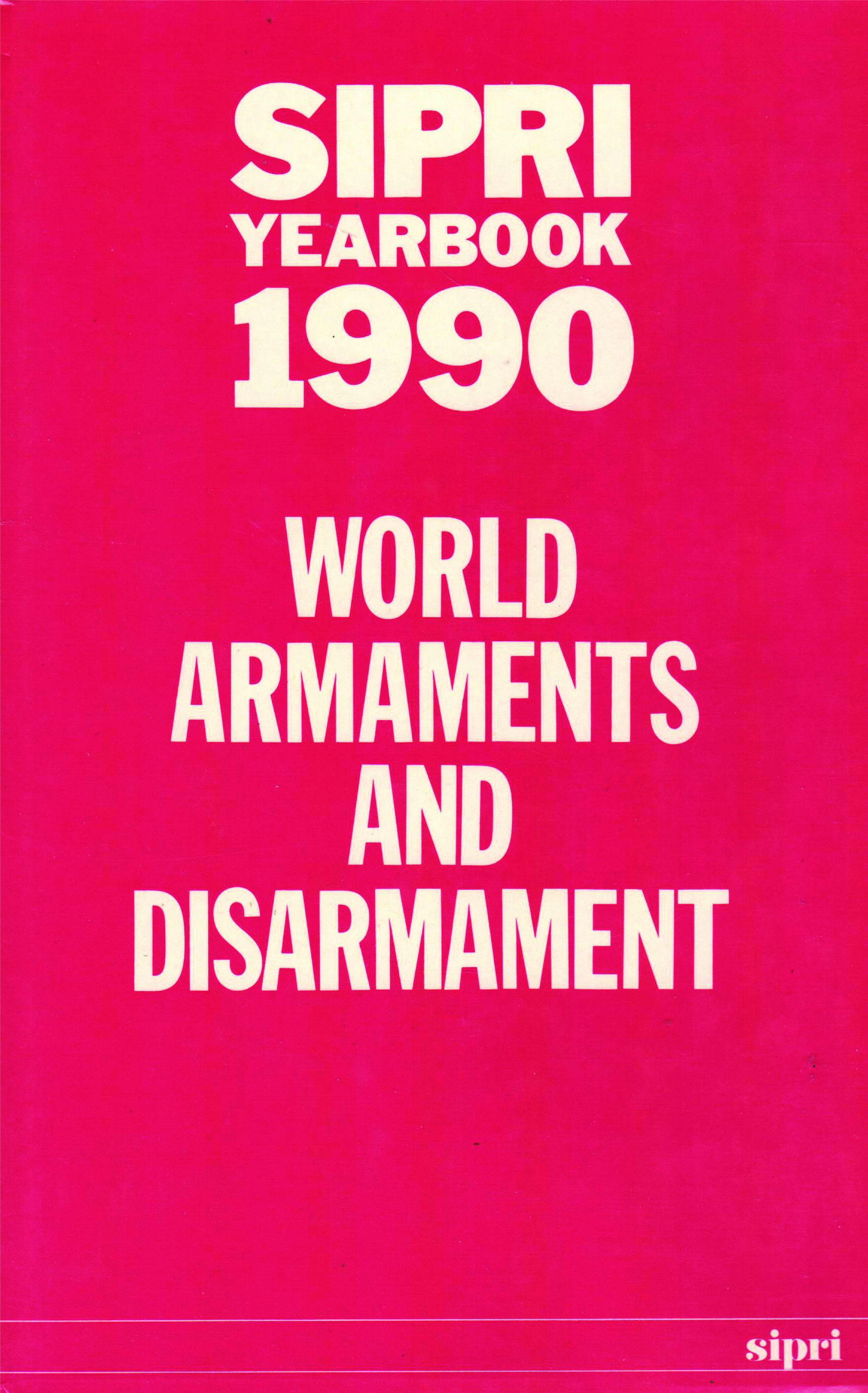 SIPRI yearbook 1990 cover