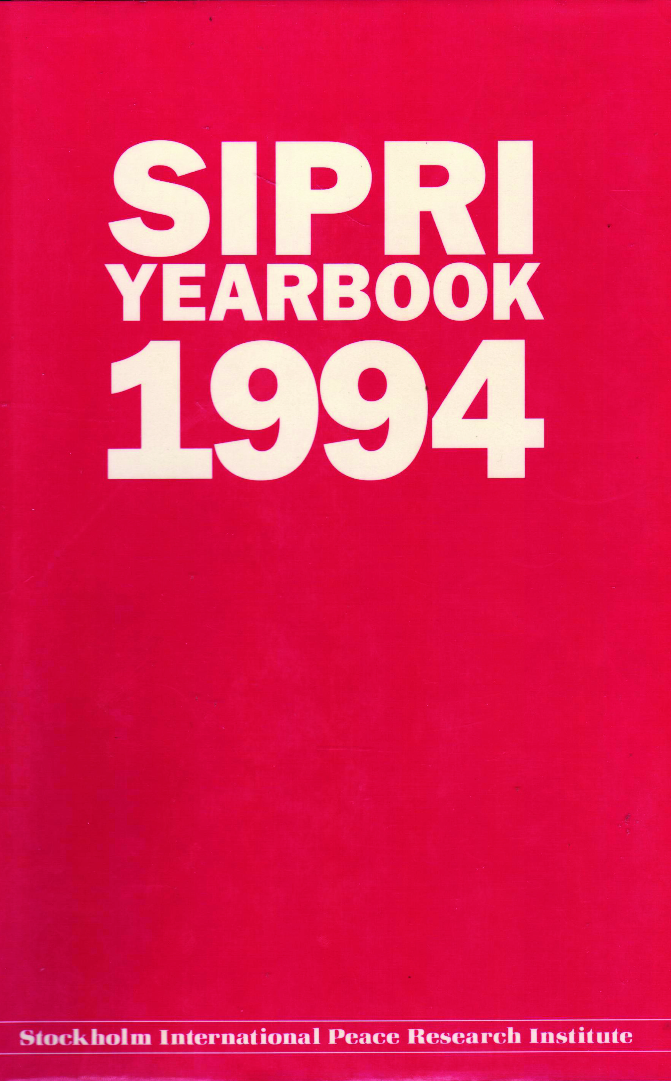SIPRI yearbook 1994 cover