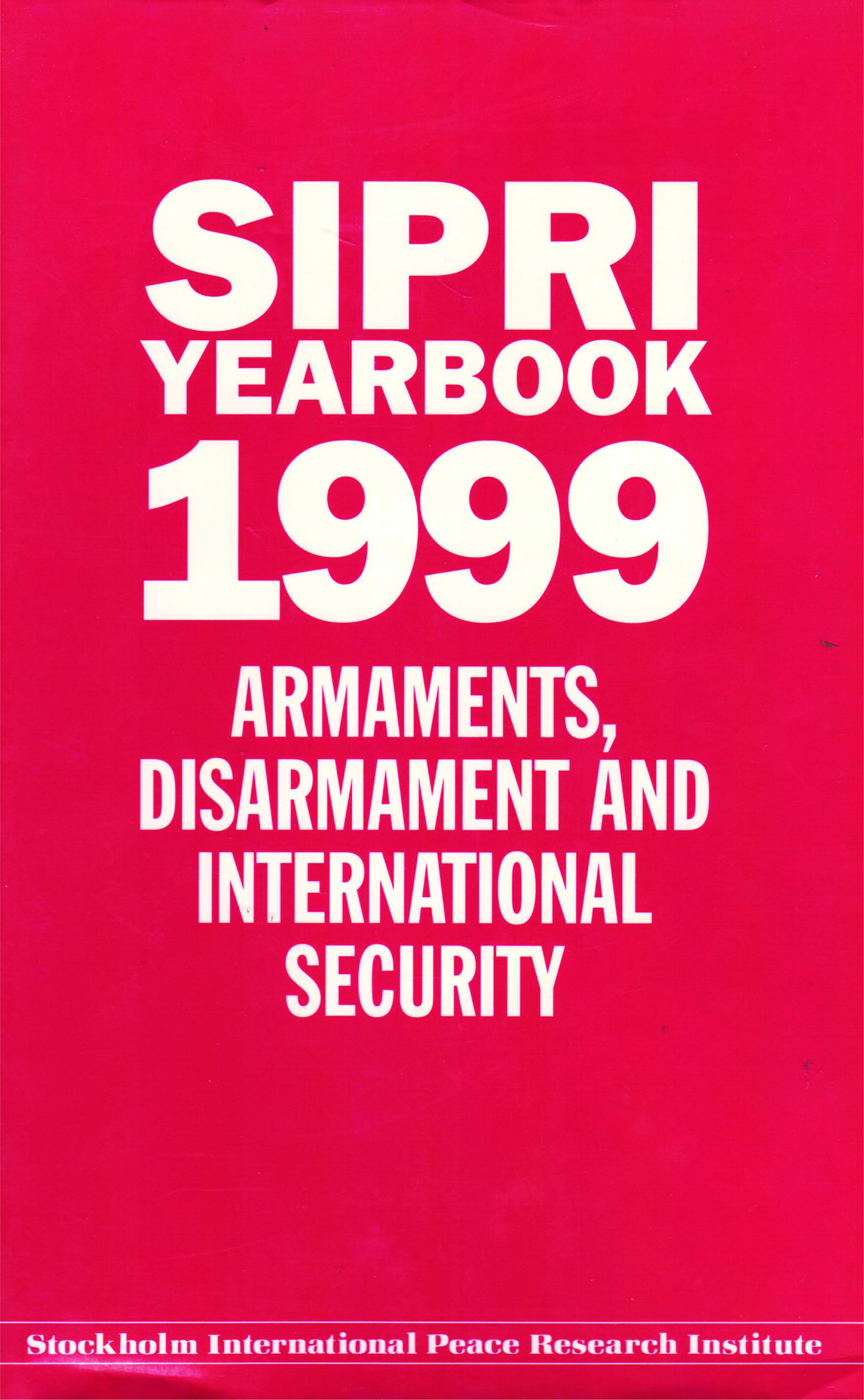 SIPRI yearbook 1999 cover