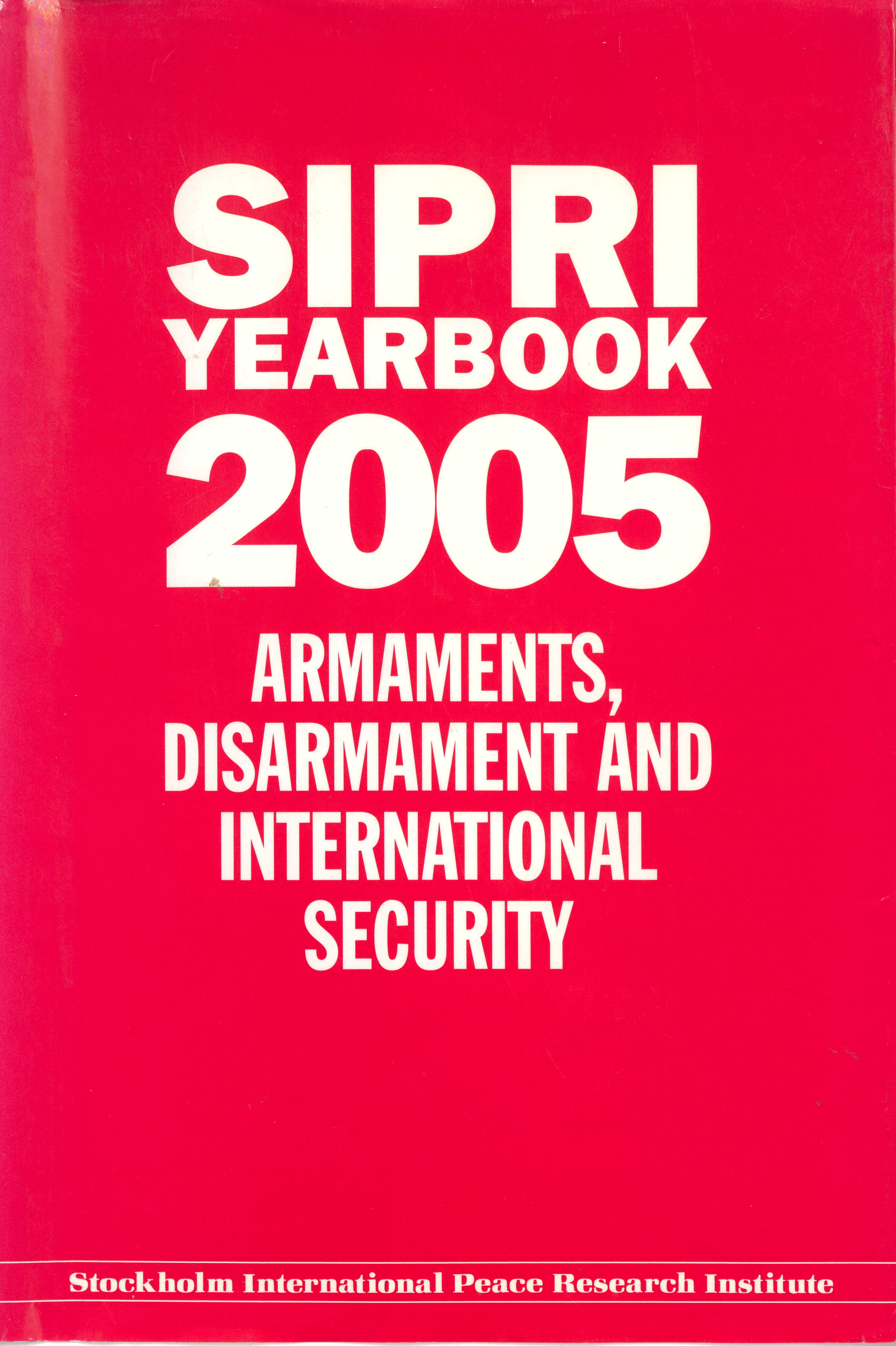 SIPRI yearbook 2005 cover