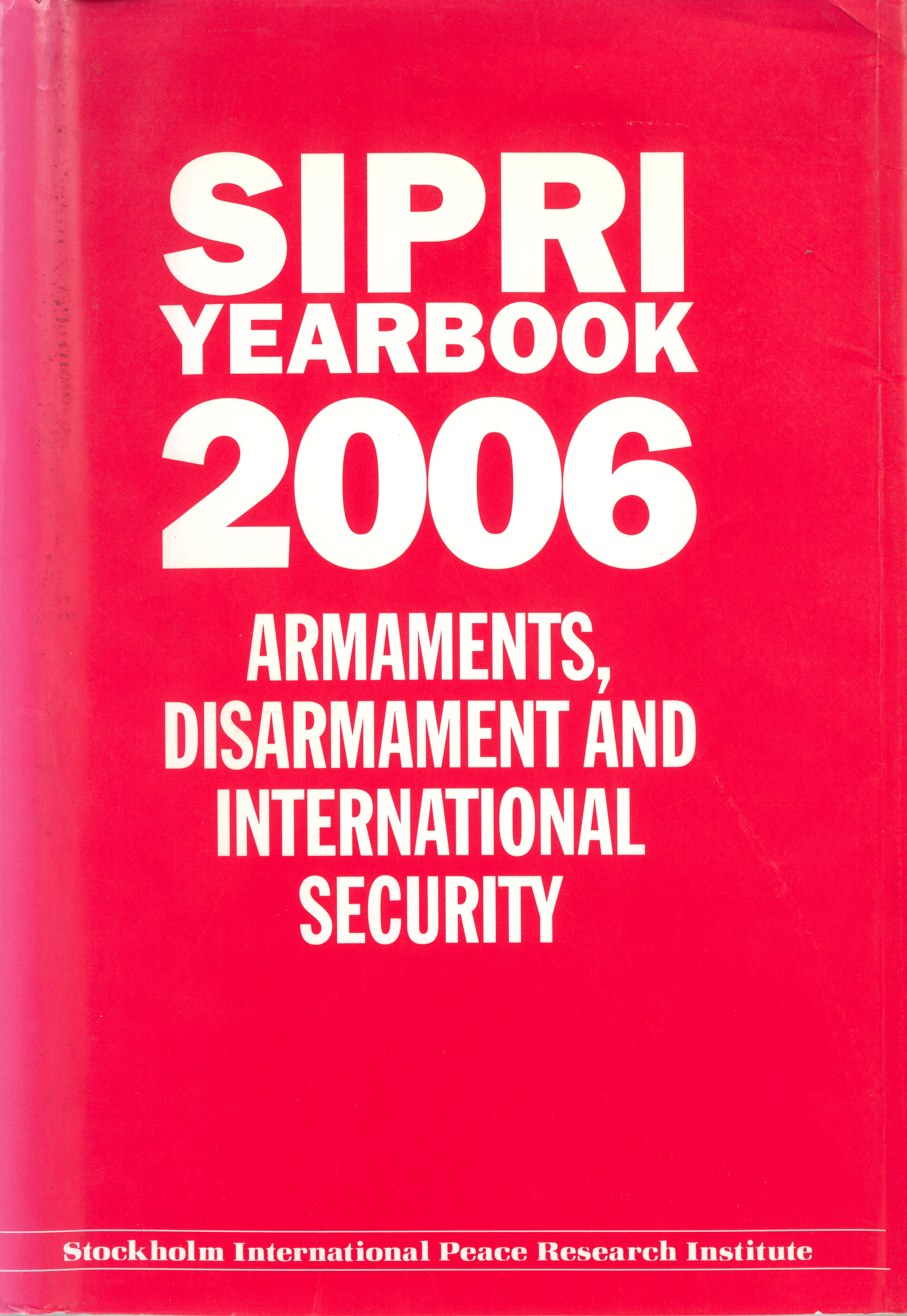 SIPRI yearbook 2006 cover