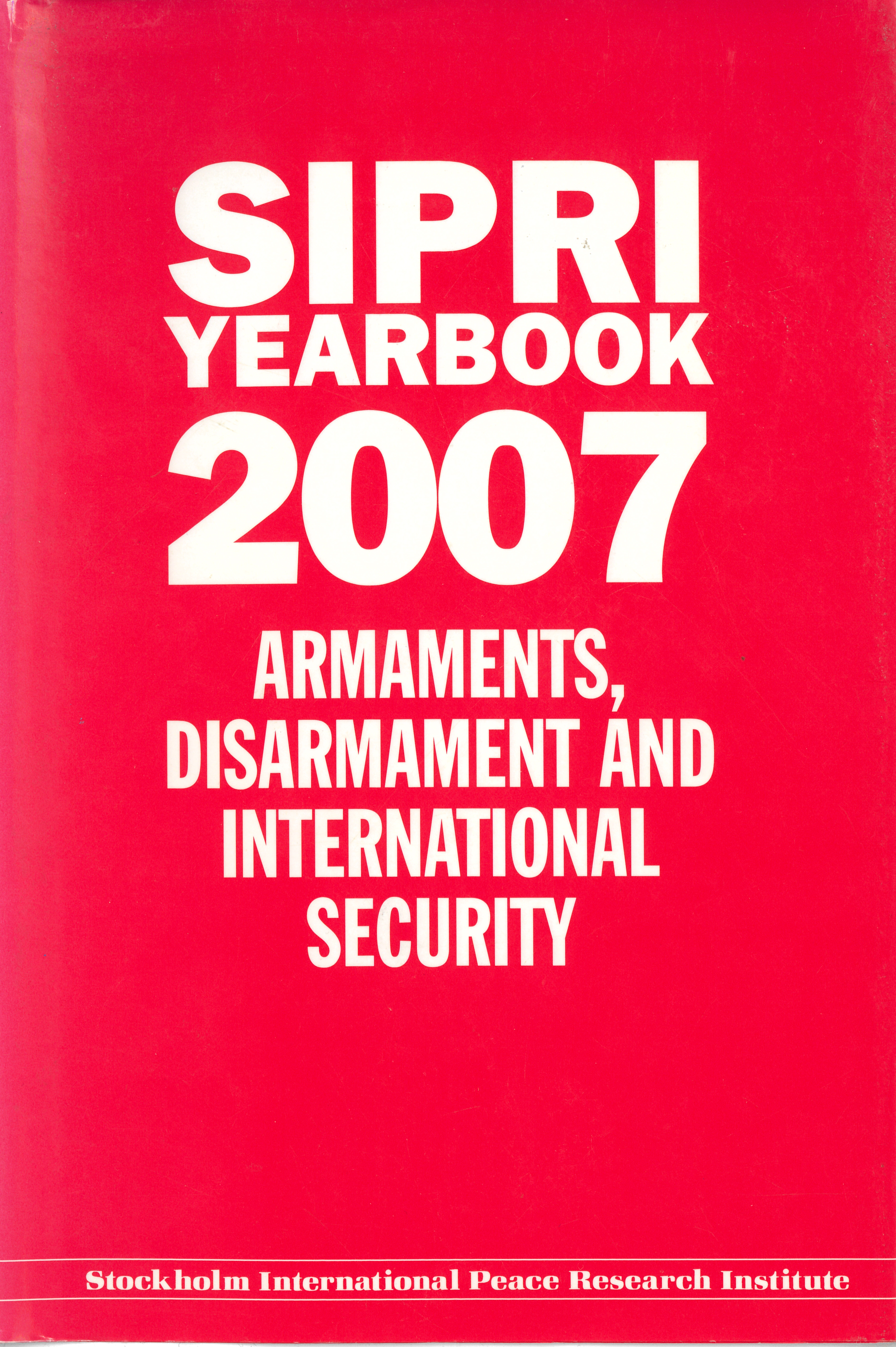 SIPRI yearbook 2007 cover