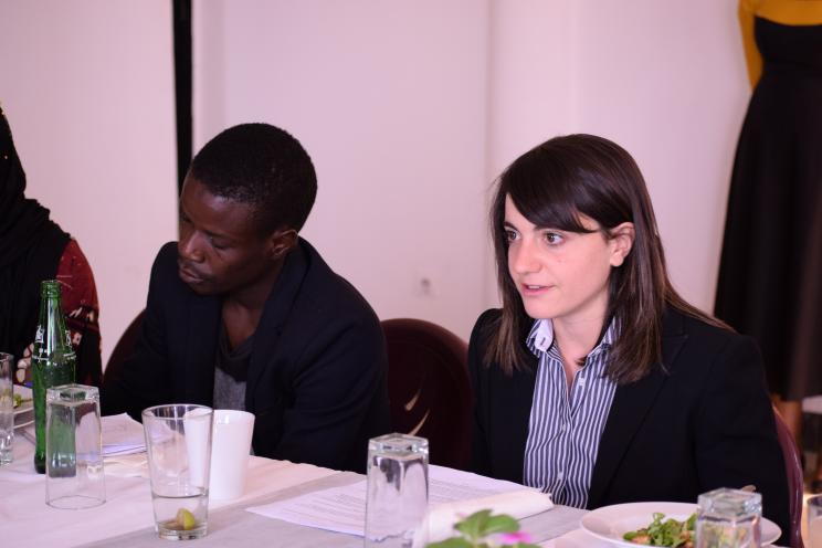 SIPRI's Zoë Gorman during the press lunch