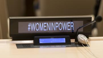 General Assembly Meets on Gender Equality and Women's Leadership for a Sustainable World. UN Photo/Mark Garten.