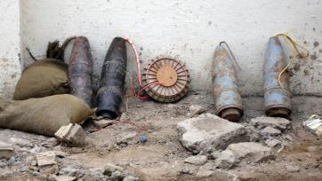 Improvised explosive device in Baghdad, 2005.