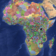 Map of African diversity
