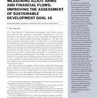 Measuring illicit arms and financial flows: improving the assessment of Sustainable Development Goal 16