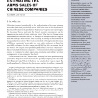 Estimating the Arms Sales of Chinese Companies COVER