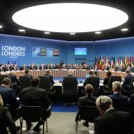 """View of the room"" at the NATO Leaders' Meeting in London, United Kingdom, 3-4 December 2019. Photo: NATO."