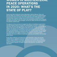 Women in Multilateral Peace Operations in 2020 cover