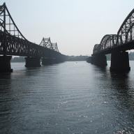 The China-North Korea Friendship Bridge during the day
