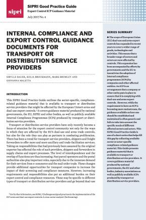 SIPRI Good Practice Guide: Export Control ICP Guidance Material no. 4