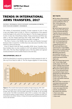 Trends in international arms transfers, 2017