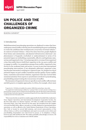 Cover UN Police and the Challenges of Organized Crime