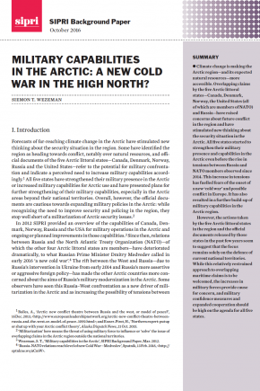 Military capabilities in the Arctic: A new cold war in the High North?