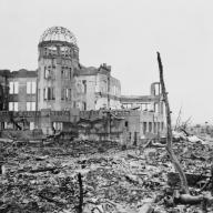 Museum of Science and Industry in Hiroshima, Japan on 6 August 1945
